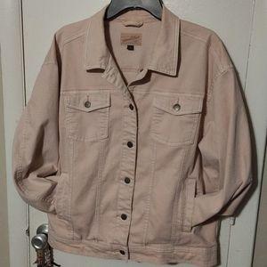 Pale Pink Denim Jacket Sz XL